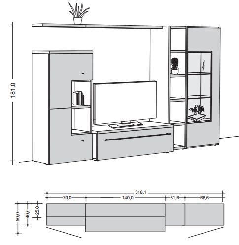 Hülsta NOW! TIME Nappali kombináció - 6 » InnoShop | InnoShop - Megfizethető design bútorok és lakberendezési kiegészítők. Ülőgarnitúrák, kanapék, bútorok, design ajándékok egy helyen.