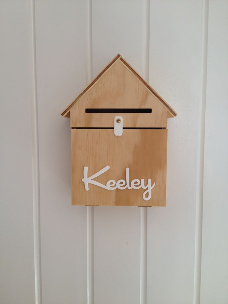Personalised Natural Wood Letterbox's