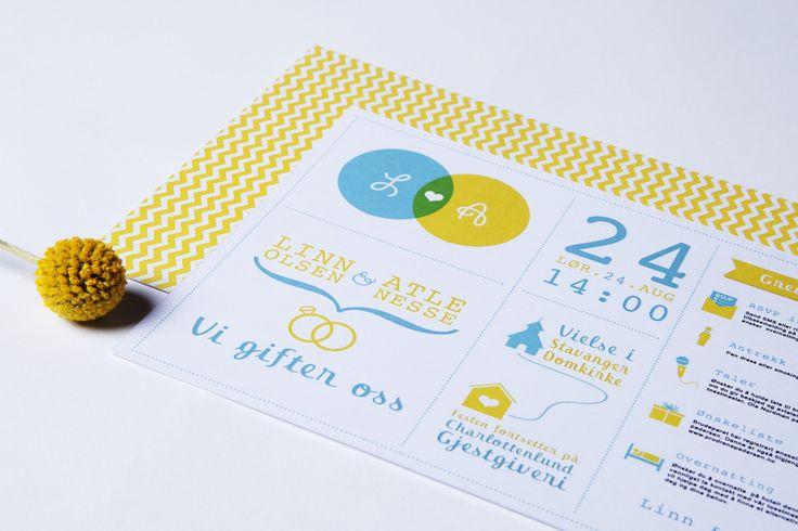 Moderne bryllupsinvitasjoner, infografikk | Bryllupsinvitasjoner i personlig design