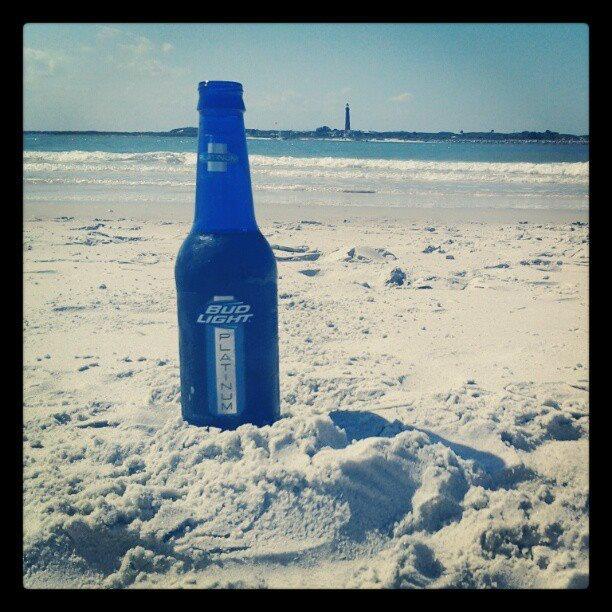 September 28 - National Drink Beer Day - so good on the beach!    bud light platinum #platinum #makeitplatinum