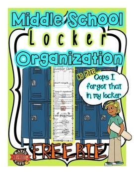 Back to School Middle School Organization: Locker Printable (free download)
