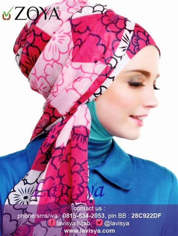 Lavisya Hijab: Zoya Selendang Jasmine Plaid - Rp 119,000