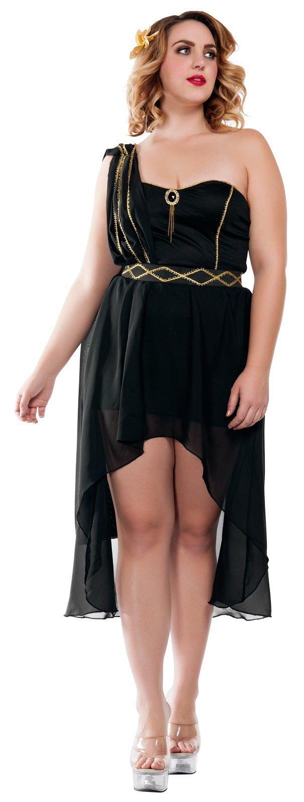 Womens Plus Size Dark Greek Goddess Costume from Buycostumes.com