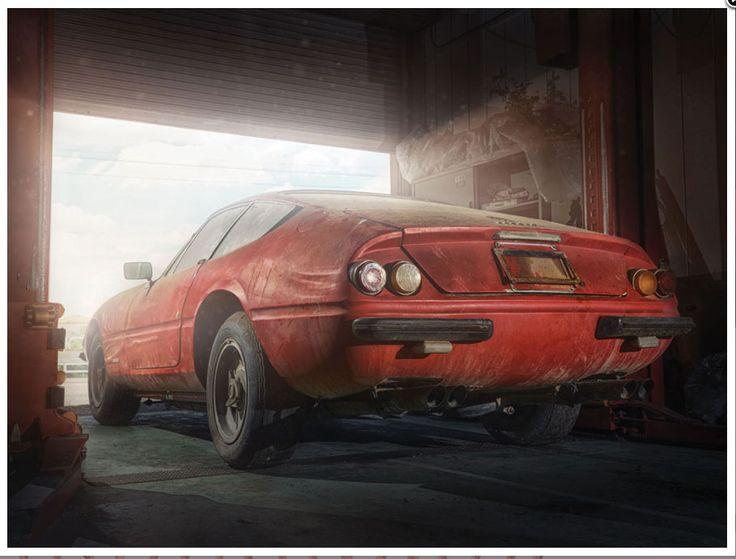 Un Ferrari Daytona único encontrado en Japón