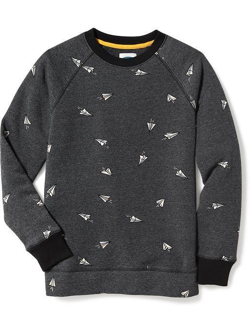 Old Navy | Raglan-Sleeve Fleece Sweatshirt