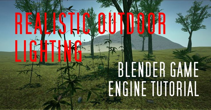 Realistic Outdoor Lighting + Skydome (Blender Game Engine Tutorial)