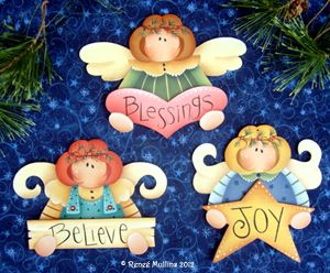 #195 Angel Trio Ornaments (Pattern Packet)