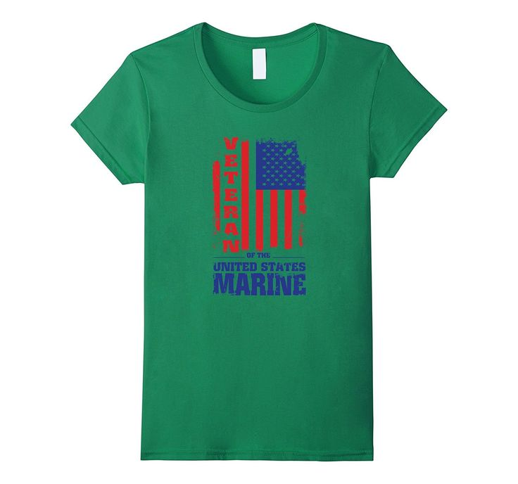 US Veteran Marine Flag T-shirt - Veteran Of The United State