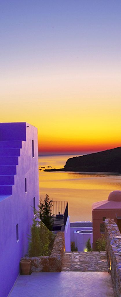 Greece Travel Inspiration - Domes of Elounda, Crete, Greece! how beautiful,this should cheer you on a dull uk day!