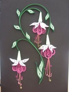quilling-this is for you to see Julie bean. :-) very pretty flower design.
