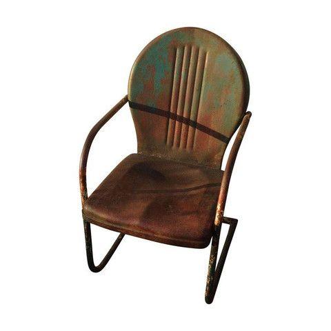 Metal Patio Chair by Chairish   Chairish