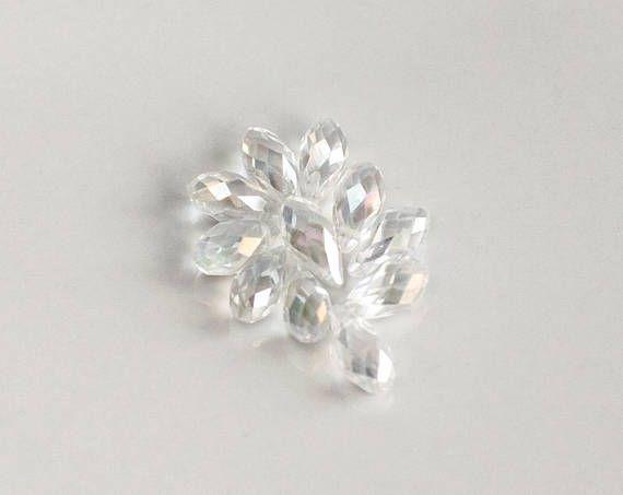 2874 Crystal pendants Glass pendants Glass charms 12x6 mm