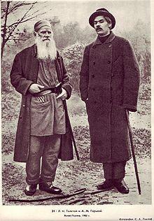 Leo Tolstoy with Gorky in Yasnaya Polyana, 1900 - Wikipedia, the free encyclopedia
