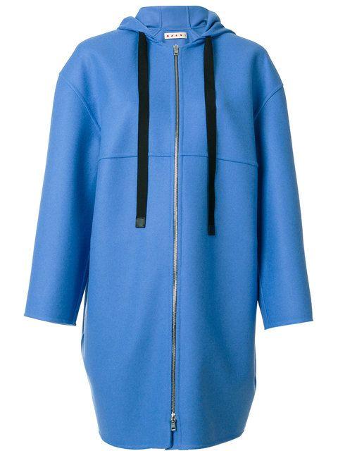 Shop Marni zip cocoon coat.