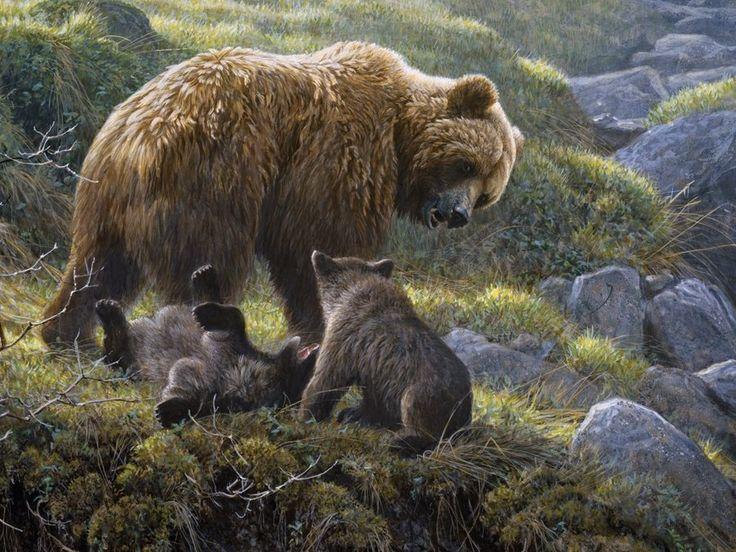 Rodinné puzzle COBBLE HILL 54584 R. Bateman: Medvědice s mláďaty 400 dílků