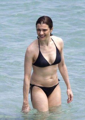 Rachel Weisz in Black Bikini -04