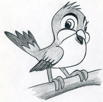 Learn To Draw Cartoon Bird – very simple, in few easy steps.