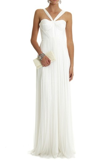 Brides - SILK TULLE BUSTIERE GOWN - Lisa Ho