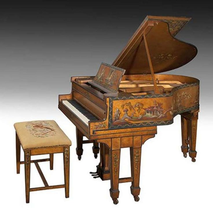 Original Madame Butterfly Christman & Sons Oriental Baby Grand Piano | The Antique Piano Shop