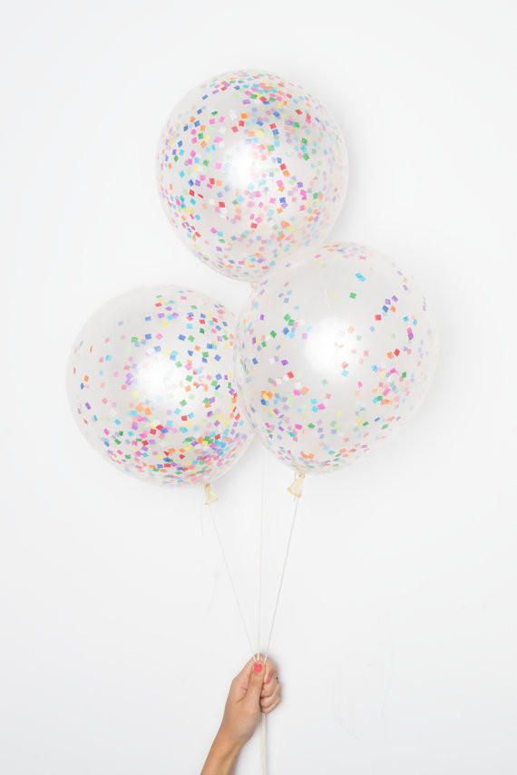 DIY Confetti Balloons - Tiny Rainbow Confetti from Style Revel. Saved to Epic Wishlist.