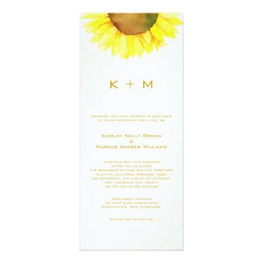 Southern Sunflower Monogram Wedding