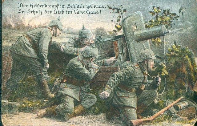 propaganda poster of germans invading belgium ww1