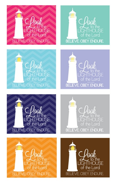 Look to the Lighthouse of the Lord - other colors