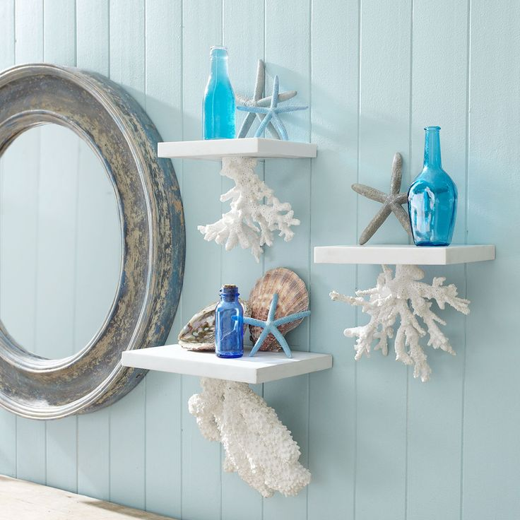 W6657 Floating Coral Shelf - Nautica Wall Art Item Price: $49.00 ea