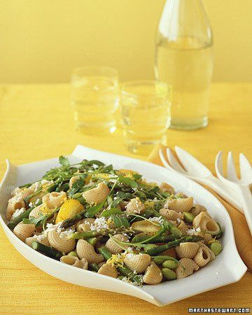Whole-Wheat Pasta with Vegetables and Lemon: Summer Side Dishes, Pasta ...