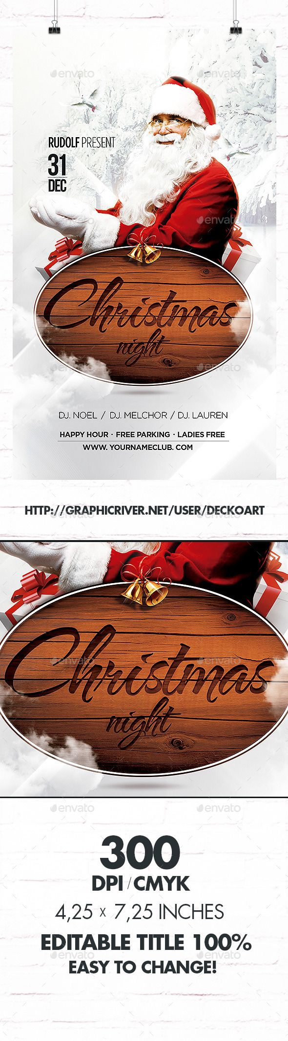 Christmas Flyer — Photoshop PSD #dove #drink • Available here →…