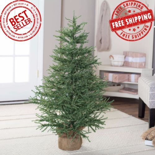4 ft christmas tree no lights green xmas classic green fake artificial holiday