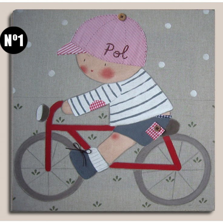 cuadros-infantiles-bici.jpg (1000×1000)