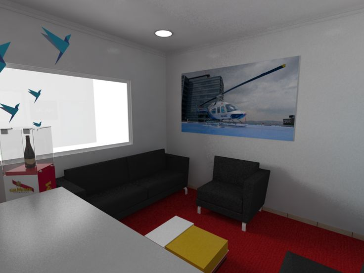 Interiorismo, publicidad sala g.h.mumm