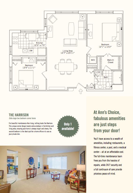 17 best images about floor plans on pinterest two bedroom apartments apartments and corner unit - Bedroom house plans optimum choice ...