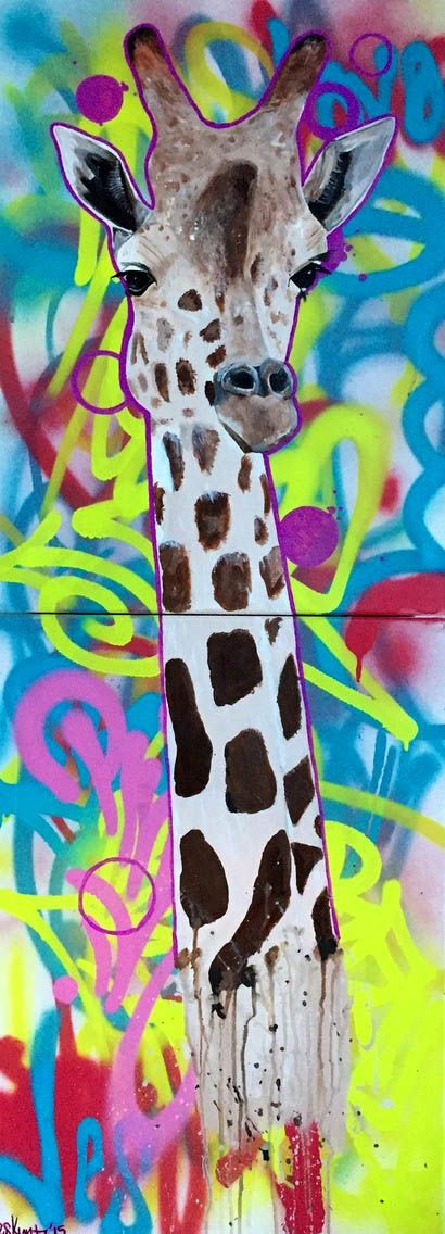 POP art + giraffes = Find more art on Vango.