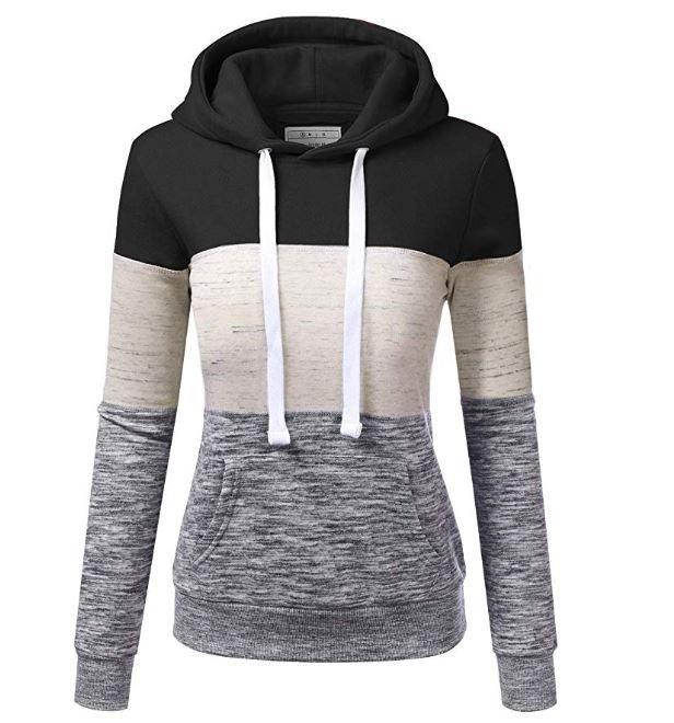 ELF QUEEN Comfy Womens Fall Winter Long Sleeve Casual Drawstring Pullover Hoodies Sweatshirts