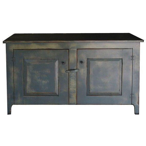 Captivating Sam Houston TV Stand Blue Grey On Tan On Java Museum Painted Handmade To  Order Via Etsy