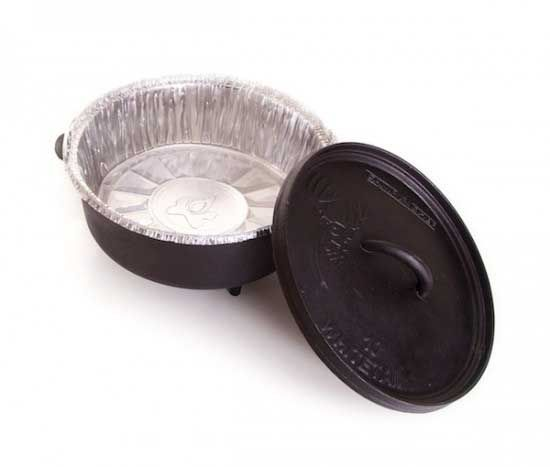 NEW! Camp Chef Disposable Aluminum Dutch Oven Liners. Definitely getting these for camping!