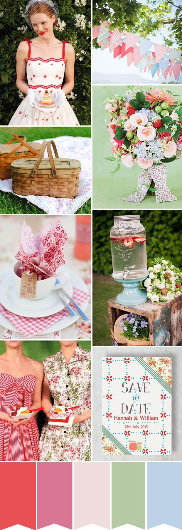A Retro Picnic Inspired Wedding | www.onefabday.com