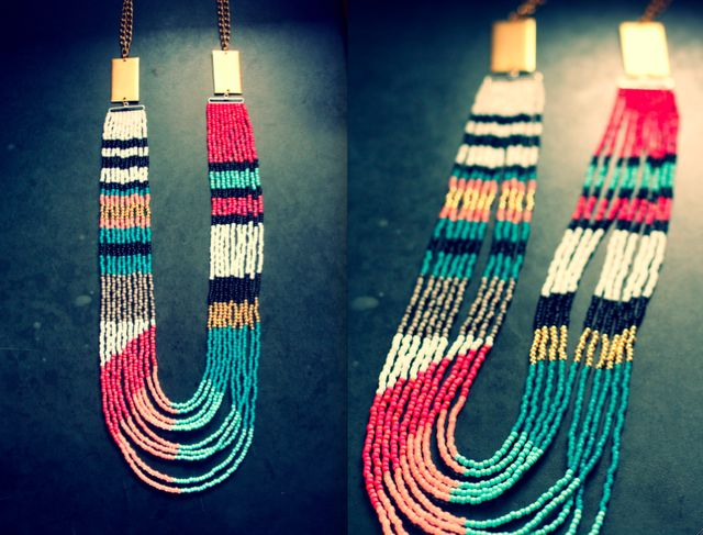 How to: beaded necklace pattern