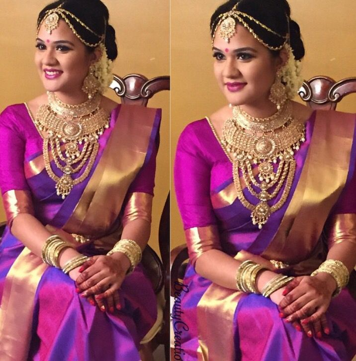 Lovely Purple and Gold Sari #purple #gold #sari #beautiful