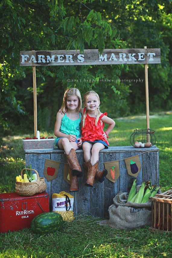 Farmer's Market Burlap Banner by LittleMaisie on Etsy