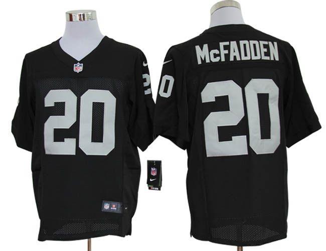 Nike NFL Elite #20 Black Darren McFadden Oakland Raiders jersey