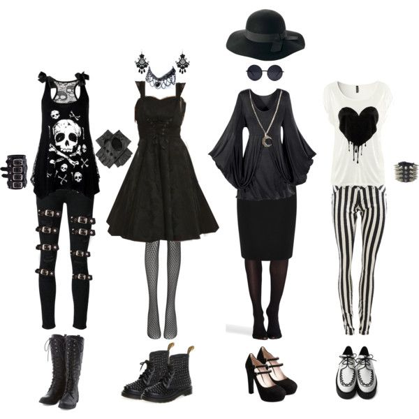 Nu Goth #3 by queenstormrider on Polyvore featuring polyvore, moda, style, SPANX, Paige Denim, Warehouse, Wolford, Miu Miu, Alkemie and Retrò