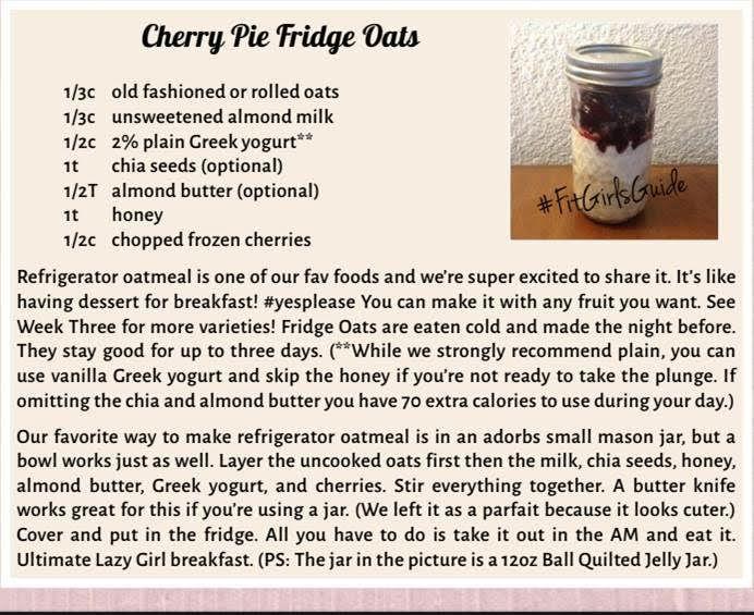 Cherry Pie Fridge Oats - overnight oats