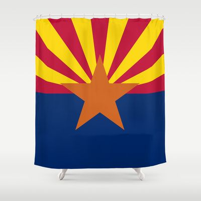 The State flag of Arizona, the 48th state - Authentic version Shower Curtain by LonestarDesigns2020 - Flags Designs + - $68.00