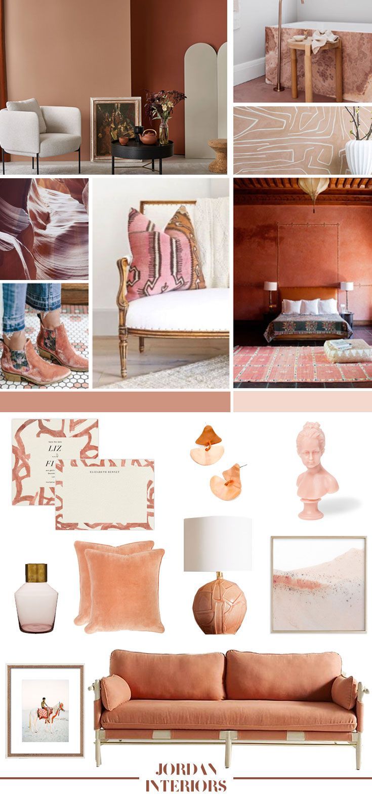 Color Of The Month Dusty Terracotta With Images Bedroom Color Schemes Interior Design Home Interior Design