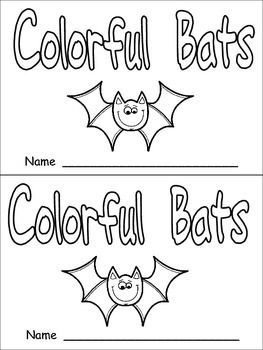 halloween colorful bats emergent reader kindergarten color words - Halloween Name Ideas