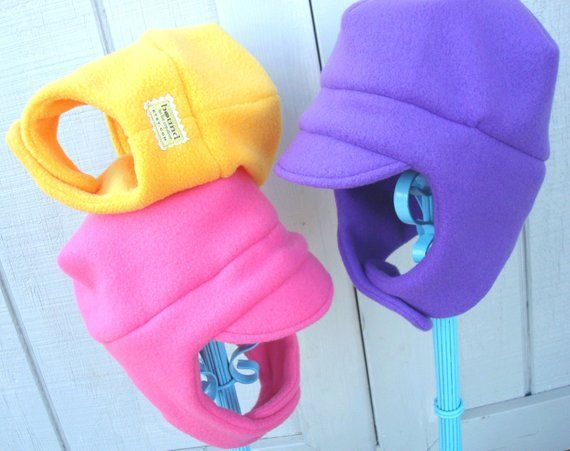 Kids Earflap Hats Winter Trapper Hat Kid S Earmuff Etsy Kids Winter Hats Fleece Hat Kids Fleece Hats