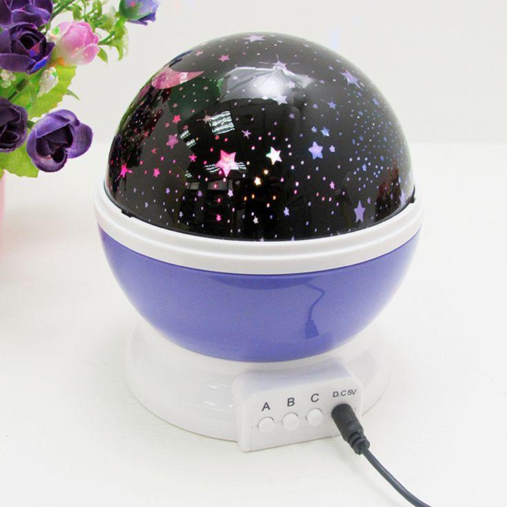 LAIMAIK LED Rotación Rotación Romántica Luna de La Estrella Cielo de La Lámpara Noche Luces de La Noche de Proyección Lámpara de Proyector de Luz con Alta Calidad